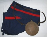 2pcs-Spanish American War Service Pants-Named/Dated-Span-Am U.S. Marked Canteen