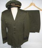 WW2 USN Naval Aviator Officer's Green Uniform Group-Commander-Named