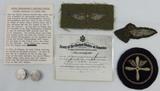 Rare WW1 USN Aerial Photographer/Enlisted Aviator Insignia Grouping-Named