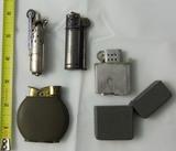 4pcs-WW1/WW2 Vintage Military Cigarette Lighters