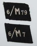 2pcs-NSKK Collar Tabs- 6th Motorsturm, Motorstandarte 79