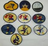 Misc. WW2 period Walt Disney Bond Bread Premium Patches And Miniature Squadron Patches