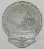1938 Dated NSKK 2nd Place Award Plaque For Cross Country Motorcycle Race