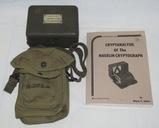 Rare U.S. Army Signal Corps M-209-B  Crytograph Decoder/Carry Case/Manual