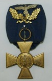 Rare WW2 Wehrmacht 40 Year Long Service Medal on Parade Mount