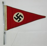 Early NSDAP Staff Car Pennant With Hanger Rod