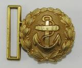 Scarce Small Version Kriegsmarine Officer's Brocade Belt Buckle