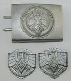 3pcs-Hitler Youth Belt Buckle-HJ Rally Badge Variants