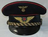WW2 German Railway Middle Ranks Officer's Visor Cap