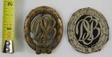 2pcs-Post WW2 German DSB (Deutscher Sportbund) Badges