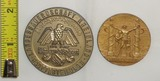 2pcs-Small WW2 German Coin Size Medallions