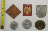 5pcs Misc. WWII German Rally Badges