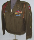 WW2 82nd Airborne Ike Jacket With Ribbon Bars, Insignia-Size 46R