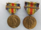 2pcs-WW1 U.S. Victory Medals-Name Engraved-Aviation