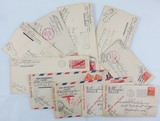 10pcs- WW2 U.S. Soldier Censor Stamped Envelopes-Army Air Forces In Australia
