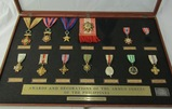 1950-60's Cased Philippine Valor Medals By High Quality Firm Of 'El Oro'
