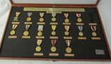 1950-60's Cased Philippine Service/Campaign Medals By High Quality Firm Of 'El Oro'