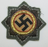 WW2 Heer/Waffen SS Gold German Cross In Cloth