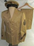 WW2 U.S. Coast Guard Chief Petty Officer Uniform-Cap-Pants Set