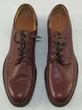 WWII USN Officer's Brown Leather Dress Shoes Size 9A