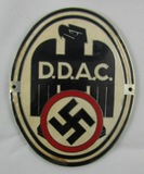 Enameled WW2 German DDAC Vehicle Plaque