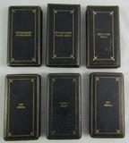 6pcs-WW2 Period U.S. Medal Boxes-DFC-Purple Heart-Air Medal-Silver Star