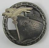 Kreigsmarine Blockade Runner Badge-Otto Plazcek/Schwerin Berlin Maker