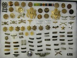 95 pcs Misc. WW2 US Army Collar And Rank Insignia, Etc.