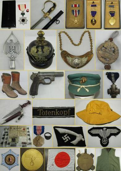 MILITARY COLLECTIBLES AUCTION TUESDAY 3-12-2019