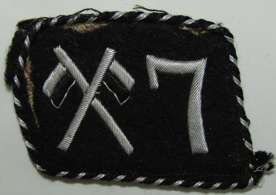Rare Pre WW2 Allgemeine 7th SS-Reiterstandarten Collar Tab W/RZM Tag