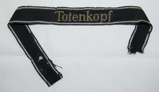 Rare WW2 Waffen SS Totenkopf Cuff Title-Uniform Removed