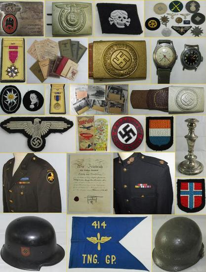 MILITARY COLLECTIBLES AUCTION SATURDAY 4-27-19