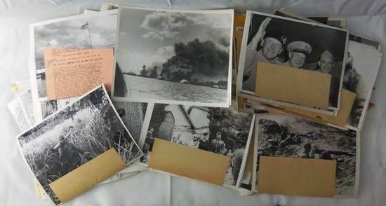 180+ pcs-WW2 Period Press Photographs-Pearl Harbor-Russian Front Etc.