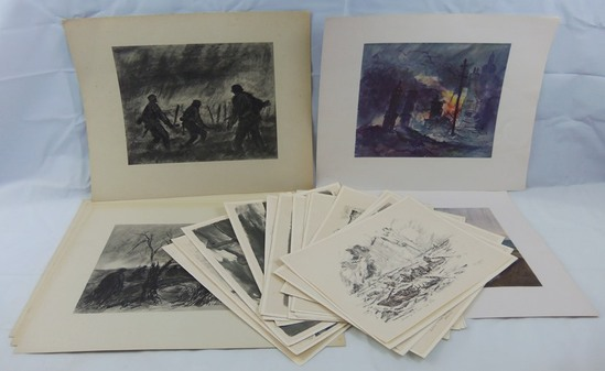 24pcs-Misc. Nazi War Painting Prints/Other Misc. German Military related Prints