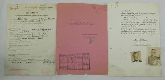 Original Pre WW2 Allgemeine SS Officer's Evaluation Paperwork Grouping