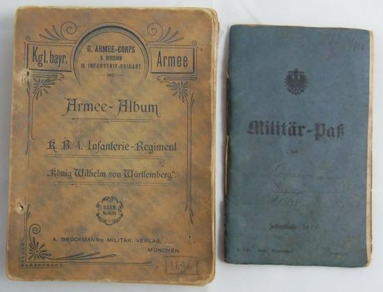 2pcs-Late 1800's/Pre WW1 German Soldier Identification Booklet-Unit History