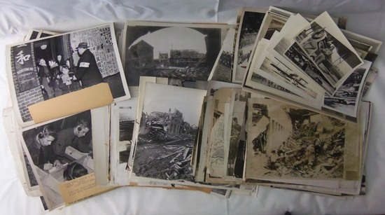 320+ WW2 Period Press Photos-U.S. Troops-Japanese-Tank Factories Etc.
