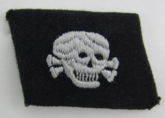 Waffen SS Totenkopf Skull Collar Tab For Enlisted