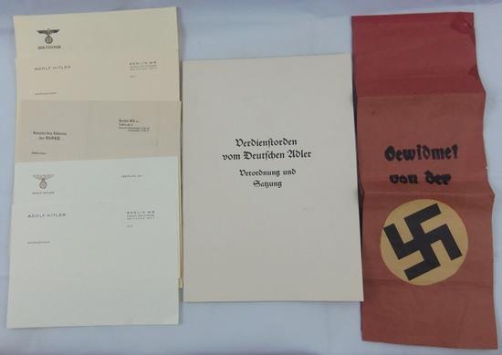 7pcs-Hitler Stationary-Order Of The German Eagle Program-Etc