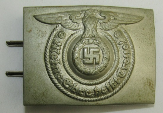 Rare Early Waffen SS Belt Buckle By Overhof & Cie With Full Title/Name Maker Stamping