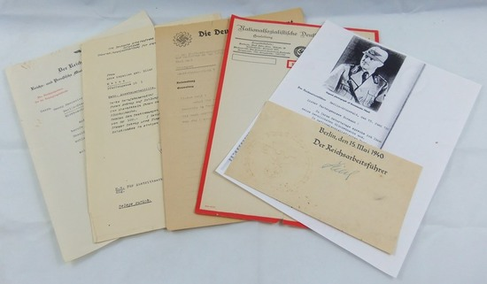 5pcs Misc. DAF/RAD Documents/Letterhead-Clipped Signature Konstantin Hieri RAD Leader
