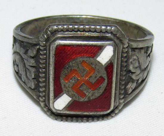 1930's-40's Reverse Swastika Ring