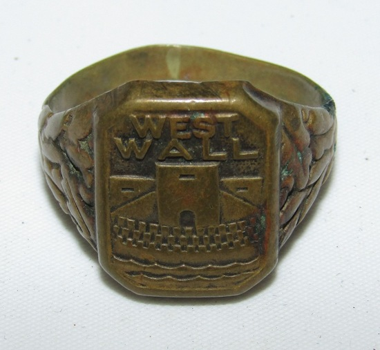 Scarce WW2 Period German West Wall Workers Ring