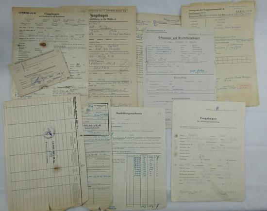 Rare Hitler Youth/Waffen SS Document Grouping-Buchenwald