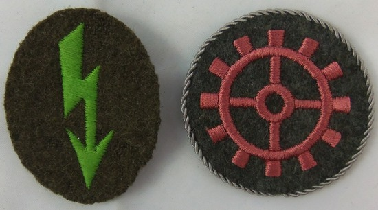 2pcs WW2 German Military Specialty Trade Rate Patches
