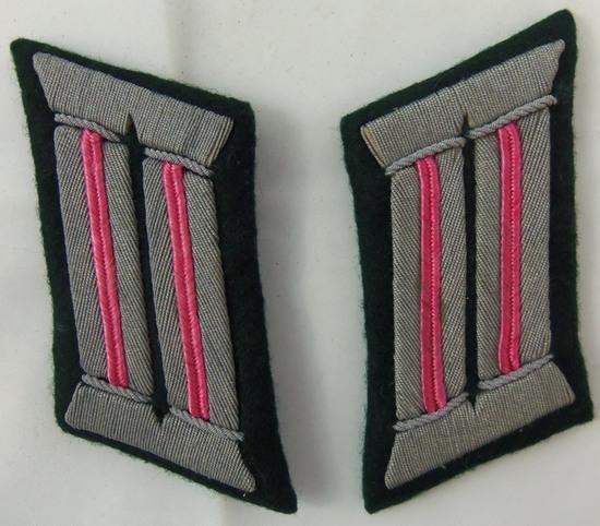 Scarce WW2 Panzer Officer's Matching Collar Tabs