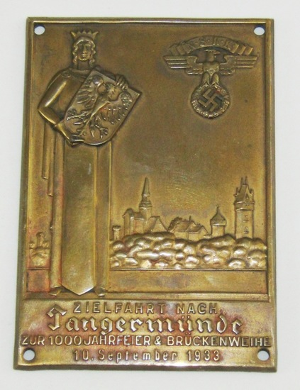 Early 3rd Reich NSKK Plaque Device-Dated 1933