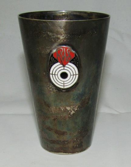 WW2 German Munitions Factory  Award Tumbler-.800 Silver
