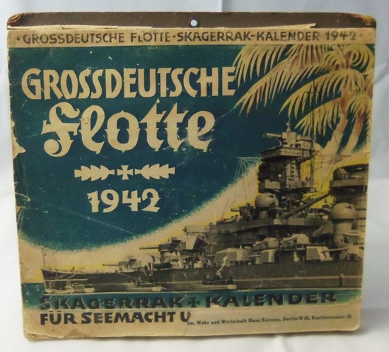 1942 Dated German Kriegsmarine Calendar