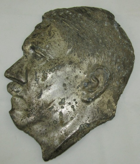 Hitler Head Side View Profile For Plaque